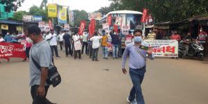 SafeValue must use [property]=binding: মেদিনীপুর শহরে বাস আটকে অবরোধ বনধ সমর্থকদের, দাঁতনে রেল অবরোধ (see http://g.co/ng/security#xss)